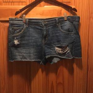 Medium wash denim shorts, 14, Mossimo